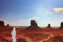 Tenzin Phakmo, Land Series: Badlands, Oil on canvas, 48'' x 30''